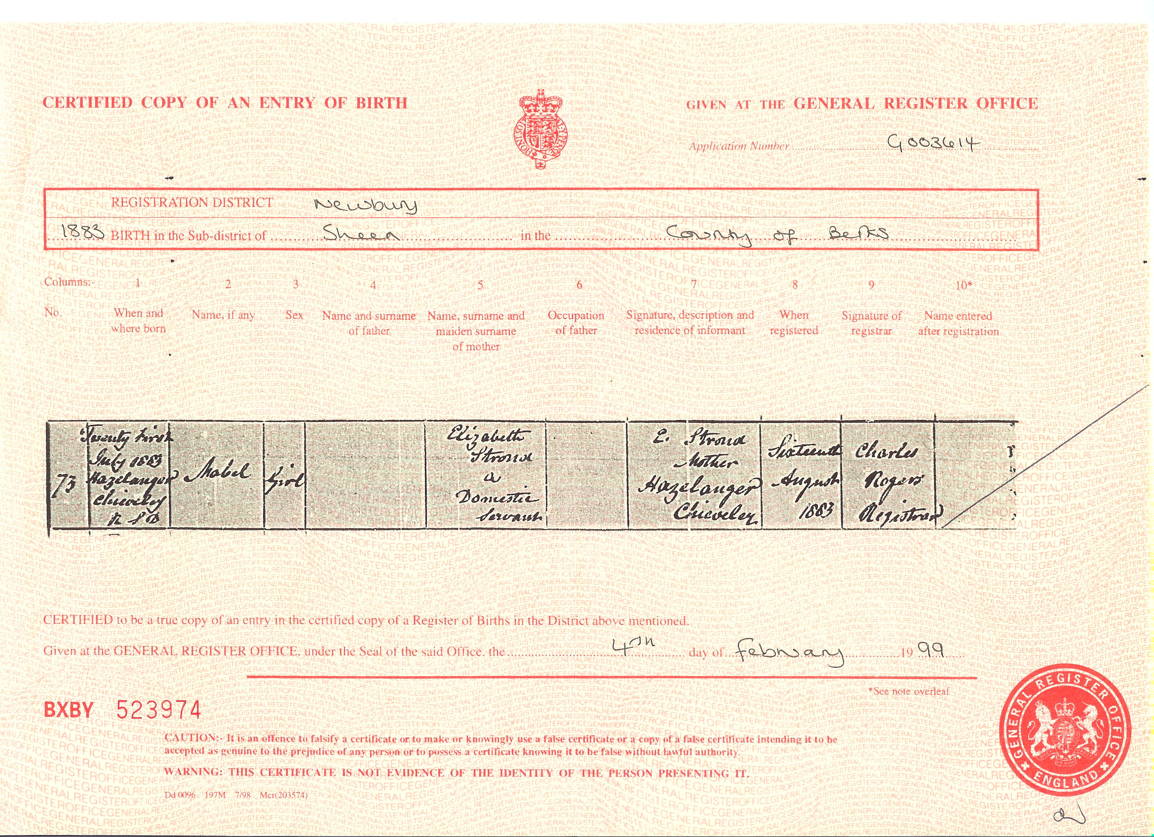 Friends of newtown road cemetery buried persons details click to enlarge birth certificate xflitez Gallery
